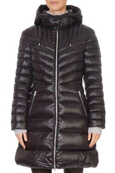 'Lara' Lightweight Down Black Coat With Removable Hood | Jessimara