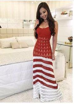 vestido longo feminino  de tricot tricô listrado  moda insta