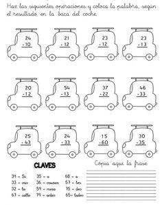 Sumas y restas para niños para imprimir - Imagui