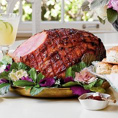 Easter Brunch Menu: Pepper Jelly and Ginger Glazed Ham