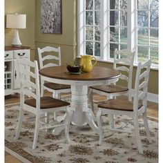 Home Styles The French Countryside Pedestal Dining Table - 15709820 - Overstock.com Shopping - Great Deals on Home Styles Dining Tables