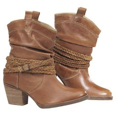 Braided Ankle Wrap Boot from backinthesaddle.com - super cute booties, not too cowgirl