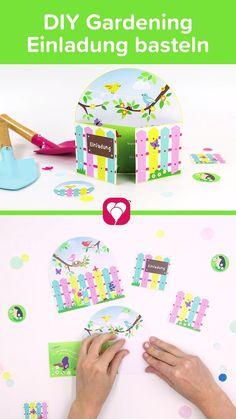 Happy Gardening! 🌷🌼 Wir zeigen Dir, wie Du eine super süße Gardening Einladung bastelst.   Einfach Video Pin merken und später nachbasteln!  Viel Spaß beim Basteln! Dein balloonas Team   #Gardening #Gardeningparty #Gartenparty #Kindergeburtstag #balloonas #Einladungskarte #Einladung #Karte #DIY #basteln #bastelnmitkindern #Download #Vorlage Diy Gardening, Slime Videos, Little Babies, Barbie Dolls, Doll Clothes, Mini, Geo, Invitation, Baby