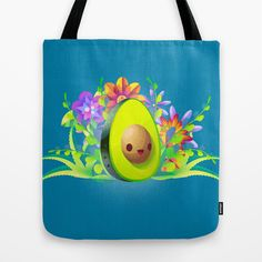 Everyone Loves Avocado! Tote Bag by carlos lerma - $22.00