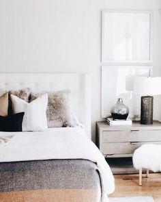 Gray Bedroom, Modern Bedroom, Master Bedroom, Bedroom Colors, Bedroom Rustic, Pretty Bedroom, Contemporary Bedroom, Cream And Grey Bedroom, Bedroom Inspo Grey