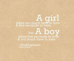 A girl... A boy... Shakespeare