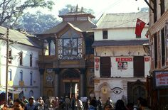 NP184125 Nepal Pashupatinathin päätemppelin sisäänkäynti Ka Bhutan, Nepal