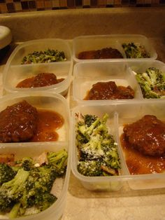 Low Carb Lunch Ideas | Grace2882 - salisbury steak with onion gravy and roasted broccoli and bacon
