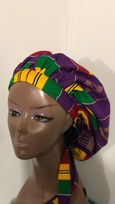 Hair Bonnet, Care Worker, Hair Breakage, New Hair, Health Care, Satin, Purple, Products, Elastic Satin