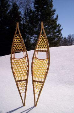 Traditional snowshoe shapes, designs, and names