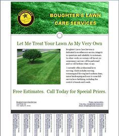 Lawn Care Business Flyer Template Mowing Ideas