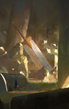 Broden Sword, Fahmi Fauzi on ArtStation at https://www.artstation.com/artwork/J0EVR