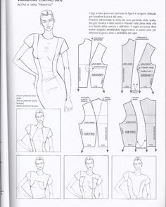 Presentation Board part 1 Sewing Clothes, Diy Clothes, Sewing Stitches By Hand, Clothing Patterns, Sewing Patterns, Pattern Draping, Diy Tops, Modelista, Pattern Cutting