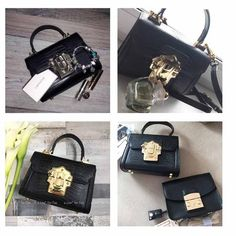 Shop this eye-catching serpentine lock genuine leather luxury handbags. The bag has an interior compartment, zipper pocket, slot pocket, and cell phone pocket. Luxury Handbags, Aud, You Bag, Hermes Kelly, Buy Now, Stylish, Leather, Women, Fashion