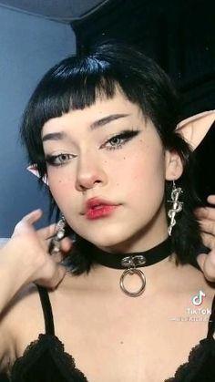 Goth Eye Makeup, Punk Makeup, Dope Makeup, Pretty Makeup, Makeup Inspo, Makeup Inspiration, Kawaii Makeup Tutorial, Cosplay Makeup Tutorial, Grunge Makeup Tutorial