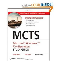 MCTS Microsoft Windows 7 Configuration Study Guide, Study Guide: Exam 70-680: William Panek: 9780470948453: Amazon.com: Books