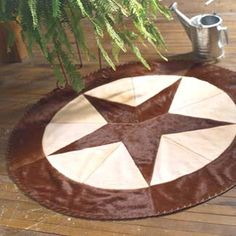 Western Rug | Point Star Cowhide Rug Cowhide Patchwork Rugs   Free Shipping!