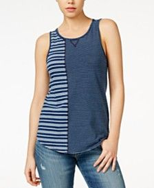 Lucky Brand Mixed-Striped Tank Top