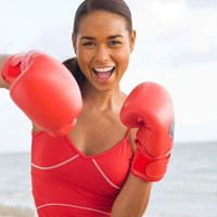 Apparententely boxing with a punch bag is one of the best Fitness and health tips out there!