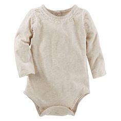 Baby Girl OshKosh B'gosh® Tulle Ruffle Bodysuit, Size: 24 Months, Light Grey