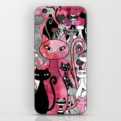Cat Family iphone cases by Patricia Sodré! #cat #illustration #iphonecase #iphoneskin www.patriciasodre.com