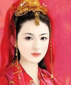 Chinese Art , 卿卿红妆亦倾国