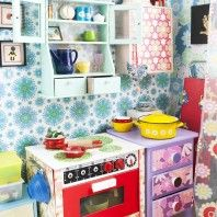 The home of Mette Helena Rasmussens daughter Diy Play Kitchen, Play Kitchens, Room Inspiration, Interior Inspiration, Tool Bench, Miniature Rooms, Decoration, Kids Playing, Playroom