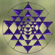 Sri Yantra Sacred Geometry Suncatcher Yoga mandala by Mownart, $32.00