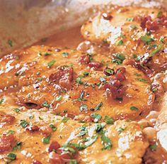 Chicken Marsala with Pancetta & Cream