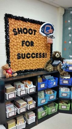 Sports Theme Classroom bulletin board.  Motivate,  inspire! (picture only)