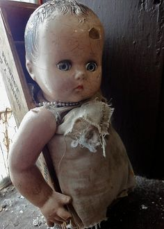"""creepy baby doll"" by brightenyourday 