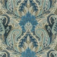 Schumacher Collection : Cambay Paisley Print Design : Cambay Paisley This grand scaled paisley spans the entire width of the linen fabric on which it is printed. DESIGN CODE - Azure Width: 1384mm Content:100% Linen $245