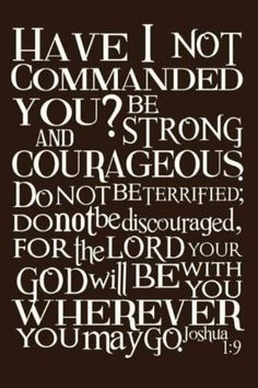 God will never leave you or forsake you