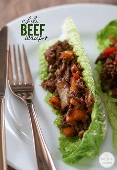chili beef wraps
