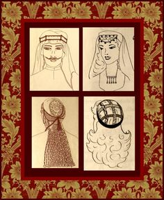 MIDDLE EASTERN HEADDRESS-Historical Costume Sewing Pattern-Eight Traditional Ethnic Styles-Uncut-Unisex Styles-All Sizes-Mega Rare by FarfallaDesignStudio on Etsy