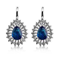 Cercei cu safire si diamante C413 #coriolan #bijuterii