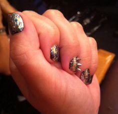 Demi Lovato Studded Nails