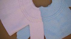 Otro tutorial completo para hacer este precioso Jersey, puesto queda divino. Con instrucciones tanto para la lana Merino y agujas de 3 mm como para lana fina d
