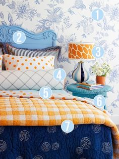 Get This Look - Pattern Mixing in Rooms - 7 tips from Remodelaholic