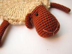 animal coaster Cozy Sheep crochet amigurumi by BestAmigurumi