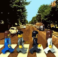 The Beatles Abbey Road in Legos