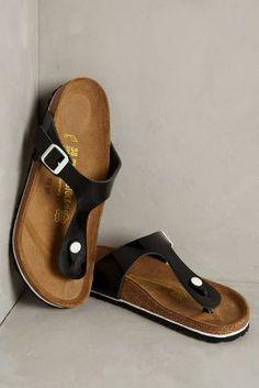 Birkenstock Gizeh Sandals Black #AnthroFave
