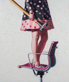 Cocktail Dress and Tool Paintings