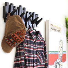 まとめのインテリア - 使うときだけフックが飛び出す。STICKS MULTI HOOK Winter Hats, Image, Design, Fashion, Rompers, Moda, Fashion Styles, Fashion Illustrations