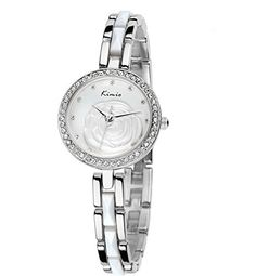 Tidoo Watches Noble Lady Series Womens Luxury Fashion Dress Watch WristWatch Analog Display White Nacre Camellia Dial Japaneses Quartz Movement Staintless Steel Rhinestone Inlay Platinum Plated Case Bracelet Band Water ResistantCasual And Expensive LookingBest Gift for Female GirlFriend Lover Birthday Anniversary Valentines Day And Christmas 500S ** Watch details can be found by clicking on the image.