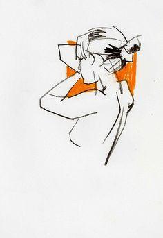 Life drawing by David Longo: