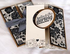 Hello Darling card made using Stampin Up supplies using a sketch...