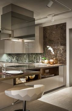 Neutral Kitchen Design 2019 The Conspiracy 98 Neutral Kitchen Designs, Luxury Kitchen Design, Kitchen Room Design, Condo Kitchen, Contemporary Kitchen Design, Home Room Design, Kitchen Cabinet Design, Home Decor Kitchen, Interior Design Kitchen