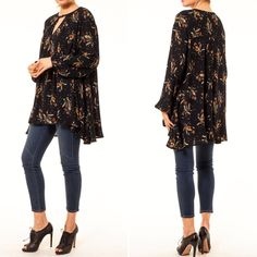 4f90cdd6724 Boho Dandelion Swing Blouse - maternity friendly. Audrey   Olive