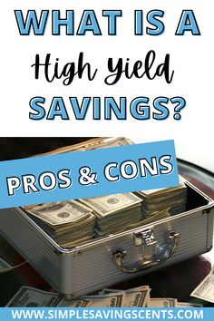 Is a high yield savings account right for you? Are you unsure how they work and what they are for? Click here to learn more and make the decision today. #savingsaccount #highyieldsavings #savemoney #savingmoney #financialeducation #financialfreedom Ways To Save Money, Money Tips, How To Make Money, Saving For College, Saving For Retirement, Investing Money, Saving Money, High Yield Savings Account, Legit Work From Home
